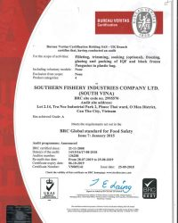 Chung nhan BRC-Global Standard for Food Safety